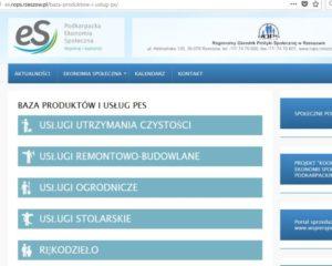Baza produktów i usług przedsiębiorstw społecznych na Podkarpaciu