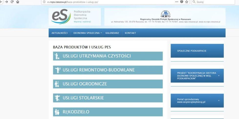 Baza produktów i usług Podkarpacie