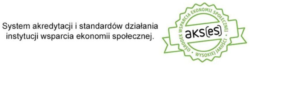 Logotyp Systemu Akredytacji i standardów działania instytucji wspierania ekonomii społecznej