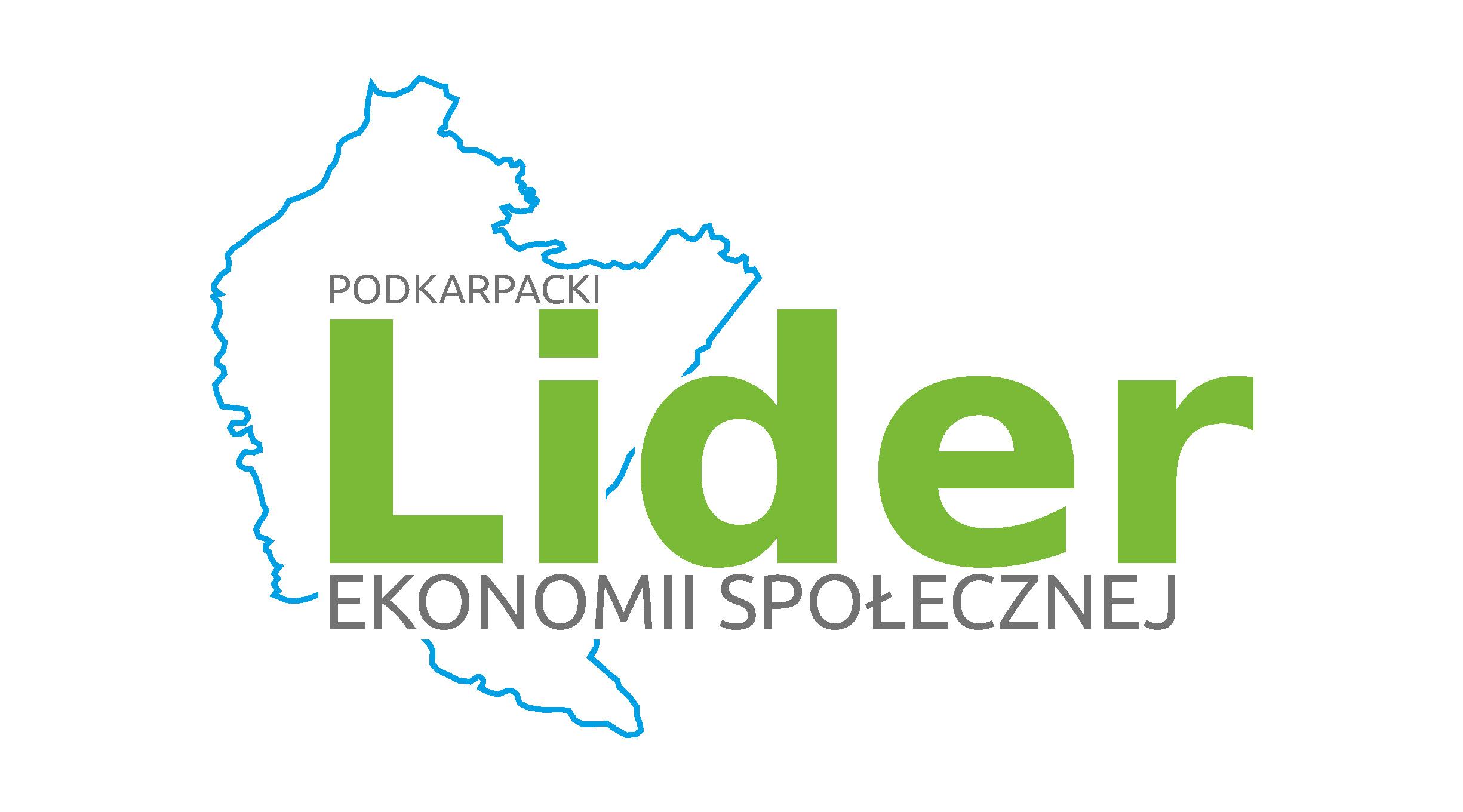 Logotyp Podkarpacki Lider Ekonomii Społecznej